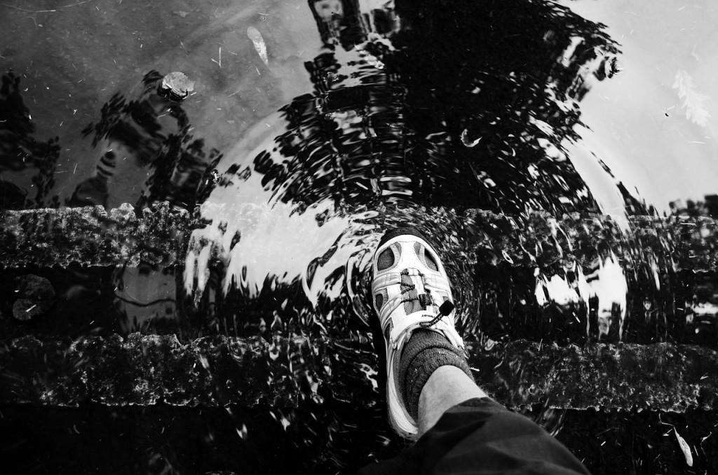 Schoenen plas