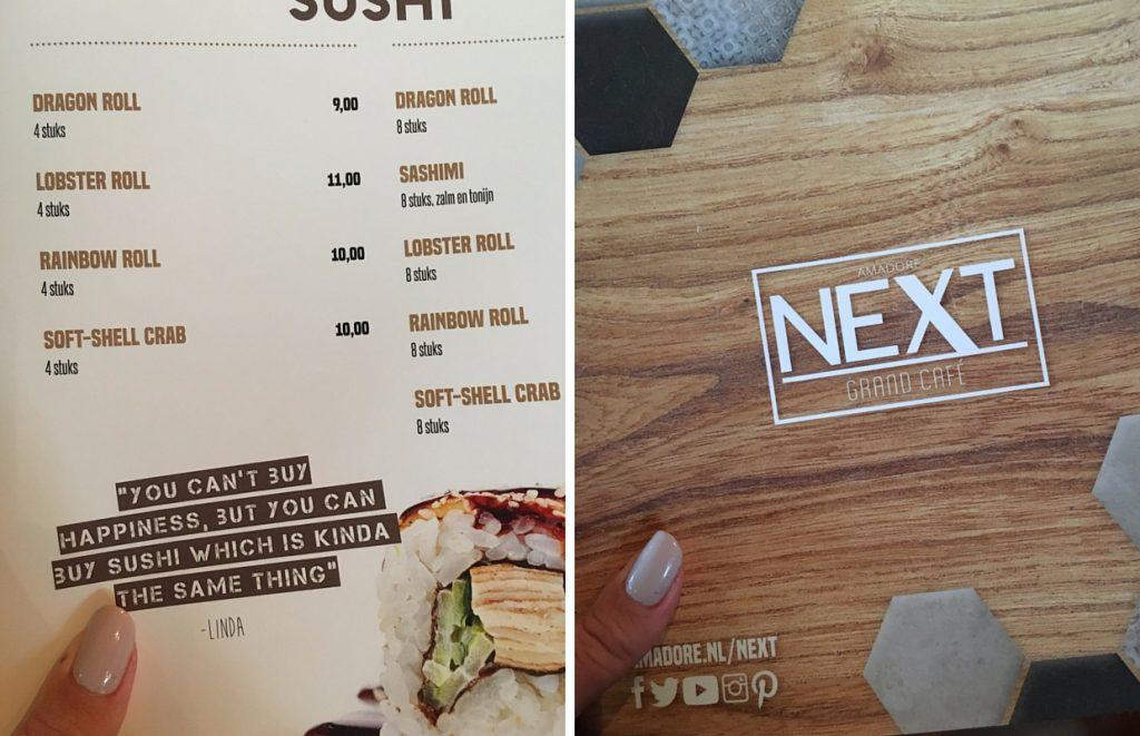 Next menu