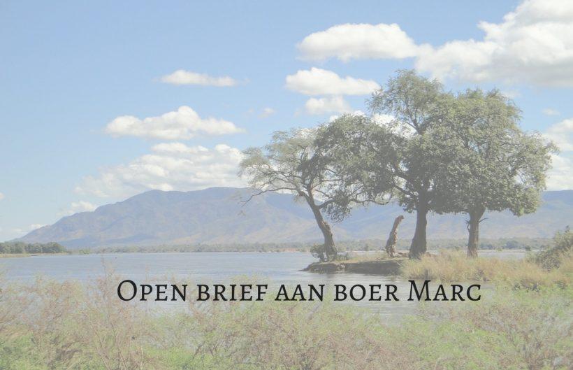 Open brief aan boer Marc