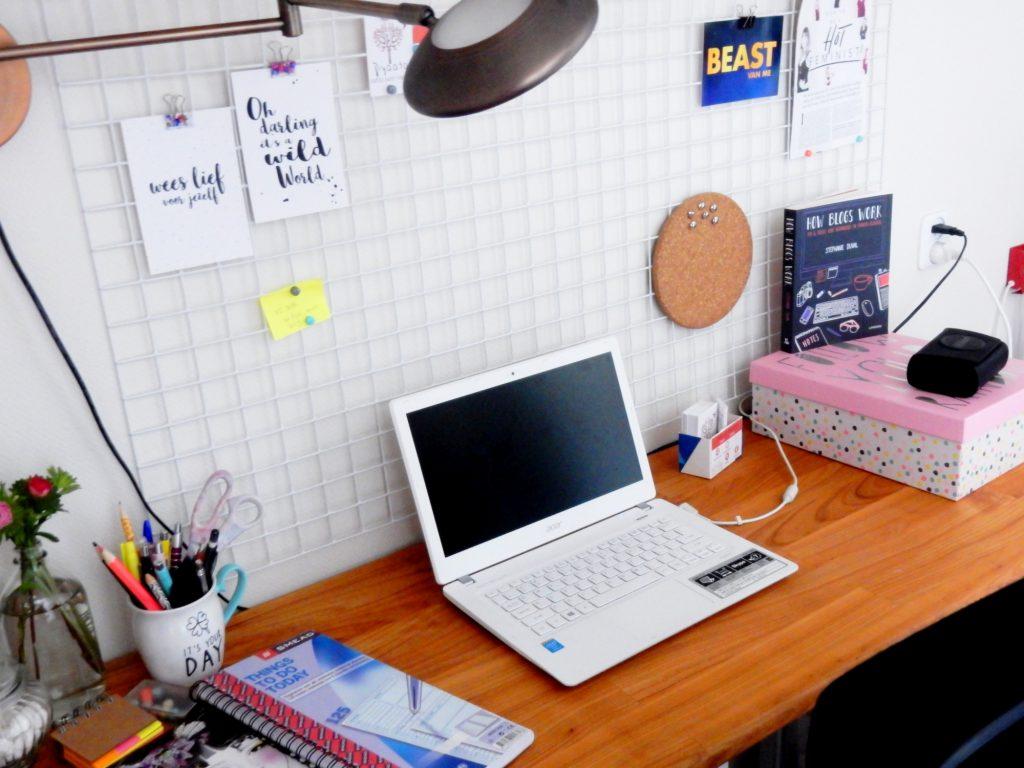 Bloggers werkplek