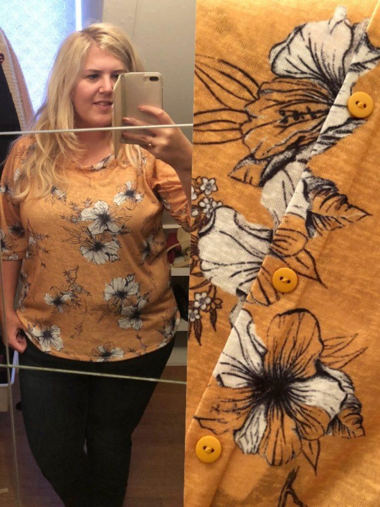 Okergele blouse Shoplog