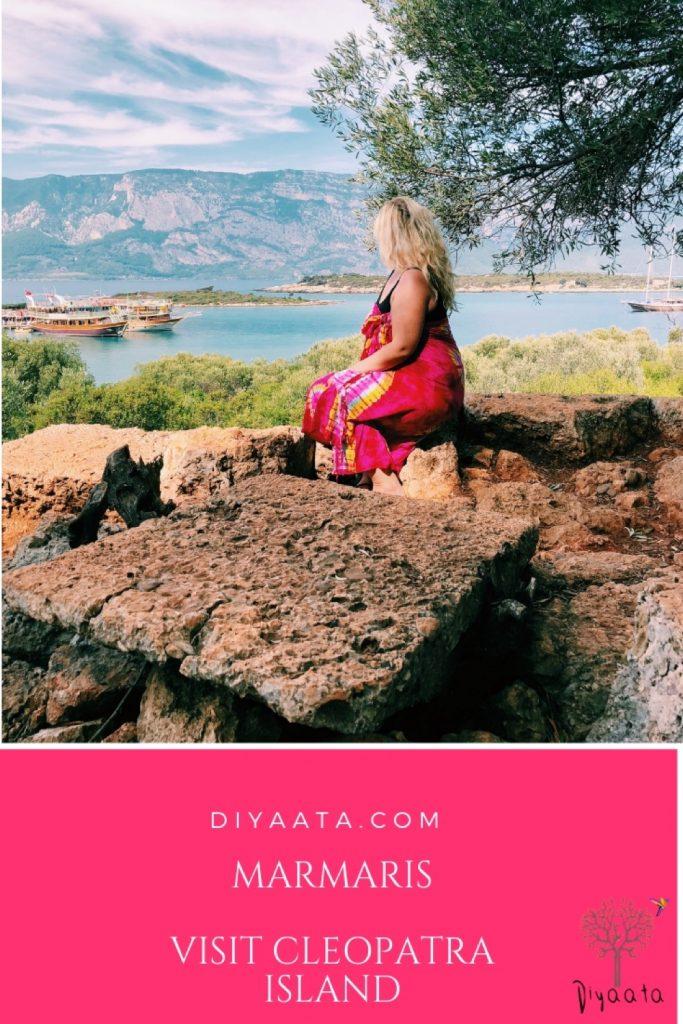 Diyaata.com Marmaris travel Cleopatra Island Sedir Island