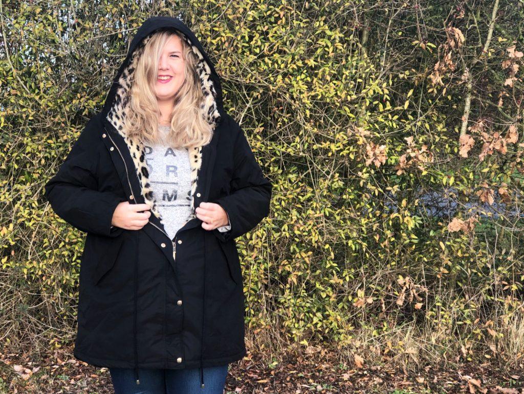 Curvy Fashion - Winterjas - Panterprint - Yoursclothing - Diyaata.com